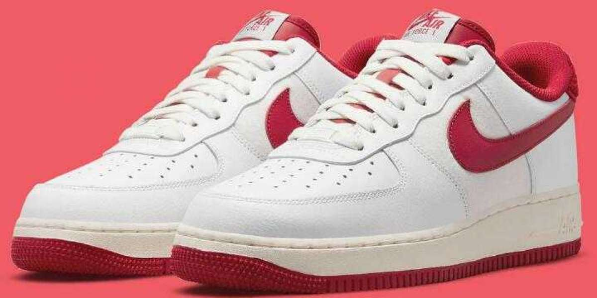 A Classic White And Red Letterman Jacket-Inspired Nike Air Force 1